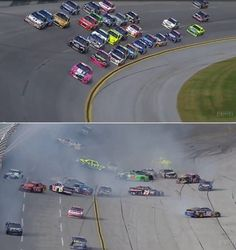 Watch NASCAR last-lap crash at Talladega