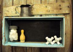 Vintage/Antique Drawer - Box-Chalkboard Shadow Box. $28.00, via Etsy.