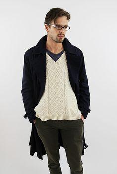 215b7eb4b23 For the men in your lige...VIntage navy blue trench coat mens coat
