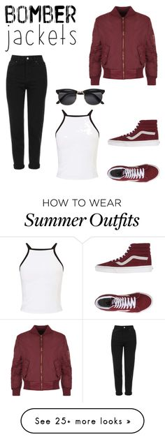 """I love this outfit"" by kaylens-i on Polyvore featuring WearAll, Topshop, Miss Selfridge, Vans and bomberjackets"