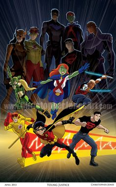 I WANT IT SOOO BAD. Young Justice by ChrisJonesArt on Etsy, $30.00