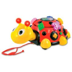 """The Learning Journey Funtime Activity Ladybug by The Learning Journey International. $33.99. From the Manufacturer                Funtime Activity Bug is lots of fun for early learners. This interactive ladybug stimulates youngsters' tactile and motor skills. Features include large buttons, fun sound effects, flashing lights and rotating beads. Toddlers can pull Funtime Activity Bug along with them for hours of mobile entertainment. Requires 2 """"AA"""" batteries (included)..."""