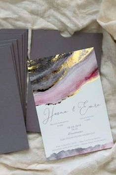 Wedding Invitation Trends, Where Do You Fit In Metallics is really popular in wedding décor past two years. Mixing metallic hues like gold, silver and copper is one of the top wedding invitation trends for Invitation Floral, Wedding Invitation Trends, Beach Wedding Invitations, Wedding Invitation Wording, Wedding Stationary, Invitation Design, Wedding Planner, Gold Wedding Stationery, Event Invitations