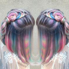 purple hair pink hair braids orange hair blue hair Icecream rainbow hair white hair lavender hair silver hair green hair teal hair grey hair