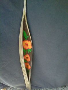 Golden Hibiscus Palm Pod by MysticShores on Etsy