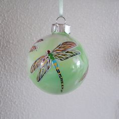 Dragonfly Ornament Hand Painted Christmas Ornament Dragonfly Etsy Dragonfly Ornament Painted Christmas Ornaments Dragonfly Gifts