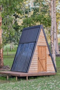 Shed To Tiny House, Tiny House Cabin, Tiny House Kits, Micro House, Diy Cabin, Cabin Tent, Backyard Cabin, A Frame Cabin Plans, Camping Pod