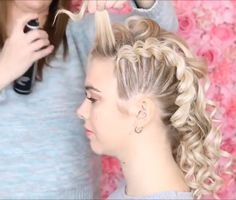 Hairstyles For Women بواسطة:sweethearts_hair Fancy Hairstyles, Girl Hairstyles, Braided Hairstyles, Wedding Hairstyles, Simple Hairstyles, Hairstyles 2018, Popular Hairstyles, Curly Hair Styles, Natural Hair Styles