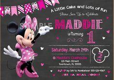 Minnie Mouse Invitation Birthday Minnie by SergioDesignsShop