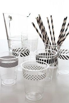Masking tape pour que chacun reconnaisse son verre en soirée Toothbrush Holder, Bathroom, Bathrooms, Bath, Full Bath