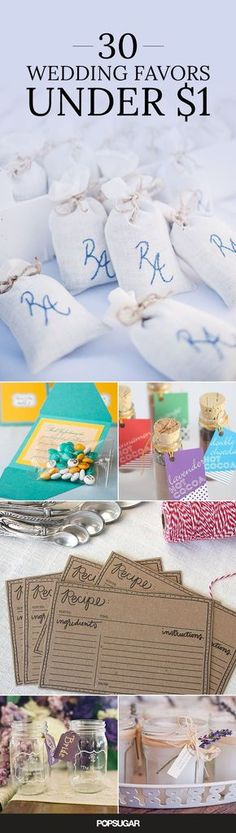 You're spending a lot on your wedding, so try to save on your favors by checking out these cute ideas that barely cost a thing!
