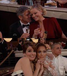 George Clooney Amy Poehler Tina Fey Jennifer Lopez Golden Globes 2013