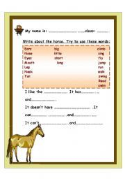 Horse themed award certificate for girls free printable fun award english worksheets write a small paragraph about the horse yadclub Choice Image