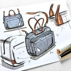 Messenger bag rocking some leather accent details! Oh, can you find the rabbit I've hidden in this sketch? // TWS (track while sketched): J. Cole - She Knows