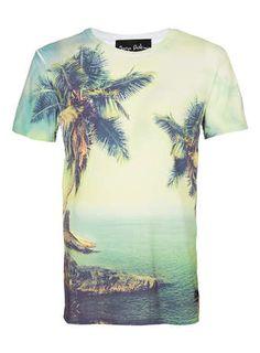 Serge DeNimes Palms Print T-Shirt*