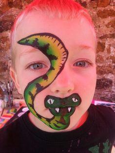 Talking snake face paint