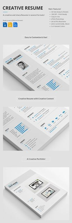 Clean European Resume CV Resume cv, Modern resume template and - european resume template
