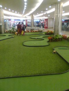FieldTurf artificial grass golf putting at GVK Mall, Hyderabad.  For more info, plz visit www.greatsportsinfra.com