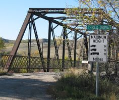 T. rex apparently weighed about 5-7 tonnes, so it could have safely crossed the bridge on T-REX DRIVE in Eastend, Saskatchewan.