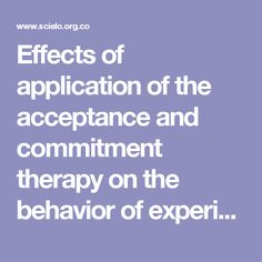 Effects of application of the acceptance and commitment therapy on the behavior of experiential avoidance in competition in young tennis players in the city of Bogotá