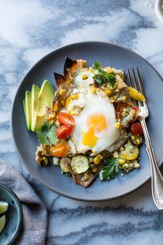 Baked Green Chilaquiles with Sweet Corn + Summer Squash {gluten-free} | The Bojon Gourmet