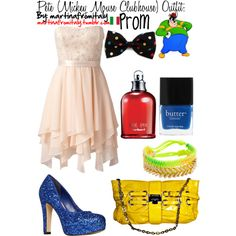 Pete (Mickey Mouse Clubhouse) Prom Outfit by martinafromitaly on Polyvore featuring Forever New, Carvela, Jimmy Choo, Cacharel, Butter London, pete, disney and prom