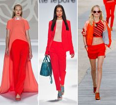 Spring/ Summer 2014 Color Trends - Cayenne Red  #colortrends #fashion