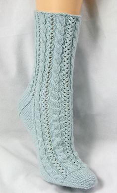 Ravelry: Cabled Lace Socks pattern by Chrissy Gardiner