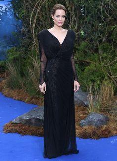 "Angelina Jolie in Versace | ""Maleficent"" UK Premiere 2014"