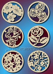 Scroll Saw Patterns :: Holidays :: Christmas :: Various ornaments :: Flower ornaments -