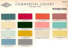 Such a cool site! Vintage paint formulas.  Does the Valencia Orange look a little familiar? (These are for auto paint though, so I don't know how it translates to latex)