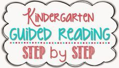 Guided Reading in Kindergarten {freebies} - Little Minds at Work