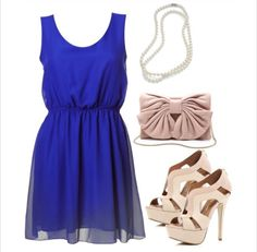 love the color of this dress. would pair with a silver necklace instead