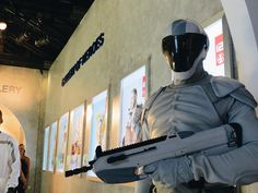 Capitol Peacekeepers guarding the Samsung Mobile USA Galaxy Experience at Comic-Con! #MockingjaySDCC