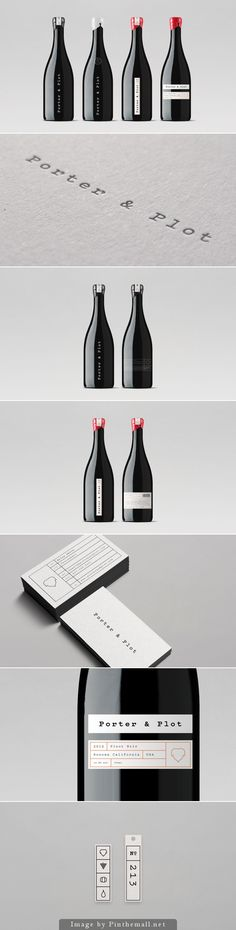 Porter & Plot wine #packaging #branding #design PD