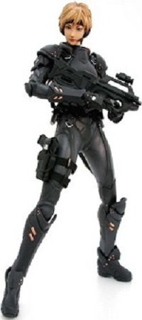 One of the duo protagonists of Appleseed and anime franchises.  Along with her partner Briareos Hecatonchires, she is one of E.S.W.A.T.'s most important members.