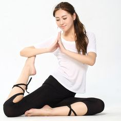 Ballet Style Yoga Fitness Pants. Quick Dry Sportswear For Fitness Dance Sports