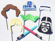 Star Wars Inspired Photo Booth Props Yoda by LetsGetDecorative Star Wars Party, Star Wars Wedding, Star Wars Decor, Disney Star Wars, Boy Birthday Parties, Birthday Party Decorations, 7th Birthday, Birthday Ideas, Aniversario Star Wars