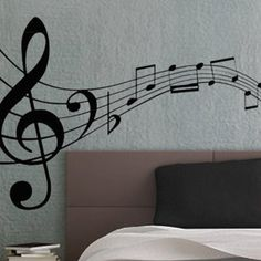 Music Notes 3 - uBer Decals Wall Decal Vinyl Decor Art Sticker Removable Mural Modern A863 on Etsy, $16.98