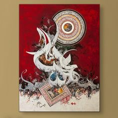 Islamic Canvas Wall Art Modern Arabic Calligraphy Fateha Ayatal Kursi By Bin Qulander
