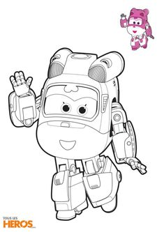 Coloriage Super Wings, Dizzy l'hélicoptère de sauvetage Train Coloring Pages, Coloring Pages For Grown Ups, Coloring Sheets For Kids, Cartoon Coloring Pages, Colouring Pages, Coloring Books, Easy Cartoon Drawings, Simple Cartoon, Kids Tv