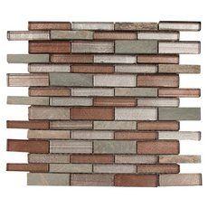 Rafaela Linear Glass Mosaic - 12in. x 12in. - 913500602   Floor and Decor