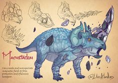 [Art] Meet our Magnetadon : DnD Fantasy Concept Art, Fantasy Artwork, Character Inspiration, Character Art, Character Design, Creature Concept Art, Creature Design, Fantasy Creatures, Mythical Creatures