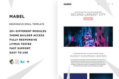 Mabel – Responsive Email template by ThemesCode - business marketing design Email Newsletter Design, Email Design, Web Design, Html Email Templates, Newsletter Templates, Design Templates, Mozilla Thunderbird, Mail Chimp Templates, Campaign Monitor