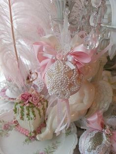 Pink Princess Victorian pearl Bling Sparkle by Oliviasromantichome
