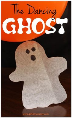 The Dancing Ghost Halloween #STEAM #STEM activity for kids   Great Halloween science activity for discussing static electricity    Gift of Curiosity Halloween Science, Halloween Activities For Kids, Steam Activities, Theme Halloween, Science Activities, Toddler Activities, Halloween Crafts, Science Education, Spooky Halloween