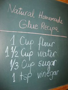 Home made glue recipe-I made this instead of going to the store for my sons school project. Thank goodness I did cause they needed 2 1/2 batches or 2+ cups of glue. How much bought glue would that have been?! INSTRUCTIONS: heat ingredients in pan on medium heat with whisk for about 2 minutes or until clumps form. If too lumpy, add 1 tbsp of water to smooth out and whisk again until smooth.