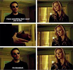 """I'm Daredevil"" - Matt and Karen #Daredevil"
