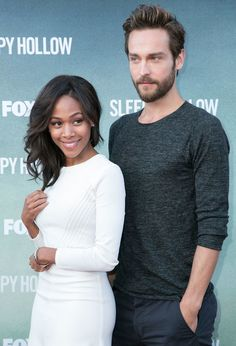 Tom Mison and Nicole Beharie of Sleepy Hollow Interracial Family, Interracial Wedding, Biracial Couples, Interacial Couples, Tom Mison, Love Is In The Air, Photo Couple, Cute Relationships, Relationship Goals