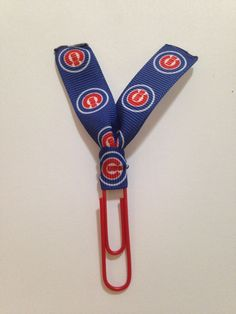 Chicago Cubs Baseball Team Cubbies World Series Champions Ribbon Paper Clip for Planners, Journals, Organizing, Paperwork, Bookmarks by MamaSellsStuff on Etsy